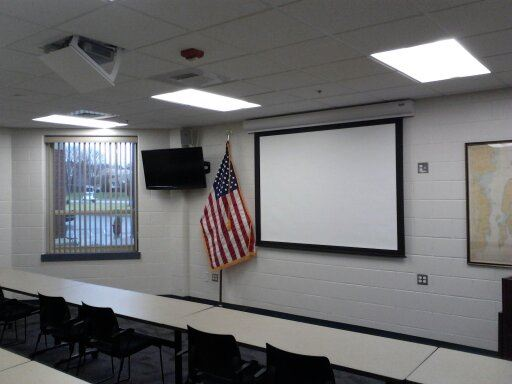 Television, Flag, and Projector and Screen